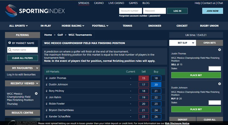 golf spread betting explained take